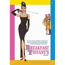 "BREAKFAST AT TIFFANYS - AUDREY HEPBURN - MOVIE TIN SIGN - 29 x 21 CM 10.5 x 7"" x"