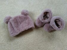 Baby Girl Sl Fashions Baby Photo Props Hat Slippers pink Infant Euc