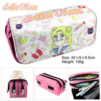 Sailor Moon Pen Bag Pencil Case Zipper Makeup Bag Cosmetic Pouch Women Handbags