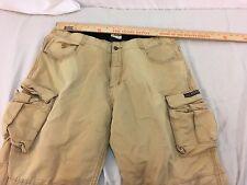 Adult Men's State Property Brand Tan Cargo Pocket Cotton Jeans 32193
