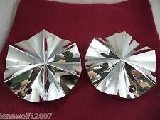 Limited Wheels Chrome Custom Wheel Center Caps # 603-2085 (2 CAPS)