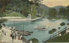 Chester WV * Rock Springs Park Lake & Boats ca. 1908 * East Liverpool OH