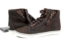 UGG Australia Blaney Crystals High Top Sneaker Dark Brown Size 8.5