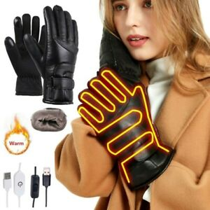 Winter Motorcycle Motorbike Heated Glove Warm USB Electric Waterproof Gloves USA
