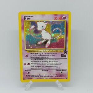 Mew #9 Black Star Promo Holo Pokemon Card - 1999-2000 !! WOTC GERMAN