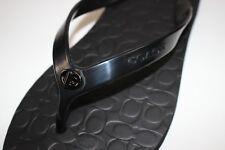bd0ac4f9bee986 Coach Abbigail Black Signature Flip Flop Flops Sandal Sandals 7 M