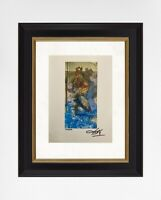 Salvador Dali 1974 Original Print Hand Signed with Certificate. Resale $5,650