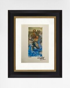 Salvador Dali 1974 Original Print Hand Signed with Certificate. Resale $5,650