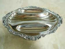 "Vintage WALLACE BAROQUE SILVERPLATE RELISH TRAY MARKED 221 13 1/2"" X 9 3/4"" X 1"""
