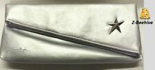 Thierry Mugler Angel Elegant Silver Clutch Evening Bag Cosmetic Pouch New in bag