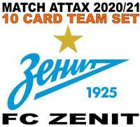 Match Attax Champions League 2020/21 FC ZENIT 10 card team set