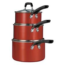 Tramontina 6-Piece Stackable Nonstick Sauce Pan Set Red Bx Dmg