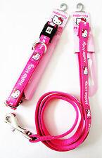 HELLO KITTY Discontinued Pet Pink Adjustable Leash Collar MEDIUM Dogs Lot of 2