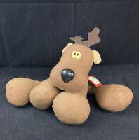 Hallmark Authentic Original Rodney Reindeer Plush Stuffed Animal Vintage 1980s