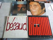 Lot de 4 33 T Gilbert BECAUD dont 1 double album