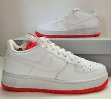 New Nike Air Force 1 Low GS White Habanero Red AO2296-101 Size 6.5Y Athletic DS