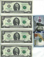 12 Note Set Lucky $2.00 Bills From Each District AND Each Year From 1976~~2013