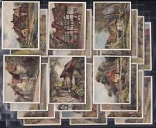 PLAYERS, PICTURESQUE COTTAGES, ORIGINAL SERIES OF 25 LARGE CARDS ISSUED IN 1929.