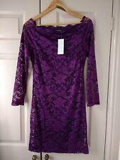 Wholesale Bundle Lot 10X femmes Violet Dentelle Soirée Cocktail Robes taille L (12-14)