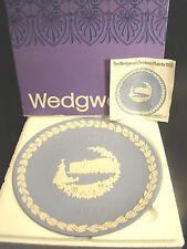 Wedgwood Christmas Plate Jasperware 1979 Buckingham Palace Blue Nib Excellent @9