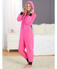 Super Soft Pink Cozy Coveralls Blanket Sleeper One Piece Pajamas Women L 14/16