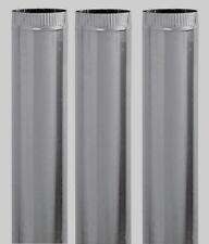 "3 New! Imperial 4"" D x 24"" L Galvanized Steel Furnace Pipe Metallic GV0357"