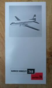 HAWKER SIDDELEY HS 748 SERIES 2A MANUFACTURERS SALES BROCHURE SEAT MAPS Airline