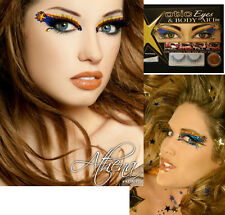 Athena Blue Gold Stars Rhinestones Glitter Crystals Costume Cosplay Eye Makeup