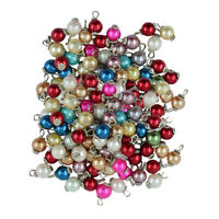 100Pcs Charms Glass Pearl Pendant for Dangle Earring Necklace Jewelry Making