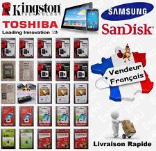 Carte Mémoire MicroSD KINGSTON SAMSUNG SANDISK TOSHIBA 4 8 16 32 64 Go au choix