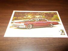 1975 Buick LeSabre Custom Hardtop Sedan Vintage Advertising Postcard