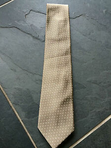 PAUL SMITH Silk TIE  Brown with dots Polka Lining 8cm Blade
