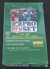1990 Pro Set Football Trading Cards Wax Box