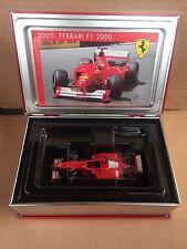 "DIE CAST "" FERRARI F1 2000 #3 WINNER USA GP 2000 ""  COFANETTO IXO SCALA 1/43"