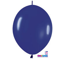 "10ct. ROYAL BLUE  Link-o-Loon 12"" Latex Helium Linking Balloons ARCHES ARBORS"