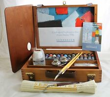 Sennelier Artist Professional Oil Paint Wooden Box Set 15x21ml Tubes +Accesories