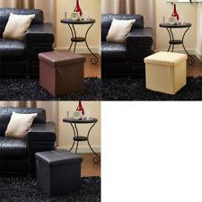 Emma Barclay Faux Leather Foldable Storage Ottoman, Medium