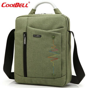 Premium Shockproof Canvas 12 inch Tablet Laptop Backpack Travel Bag, Army Green