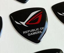 ASUS Republic of Gamers ROG 3D domed sticker badge for laptop or desktop [H196]