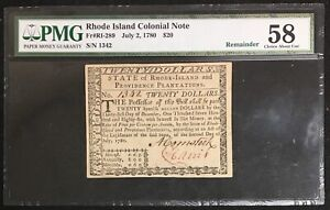 July 2, 1780 Rhode Island Colonial Note PMG 58