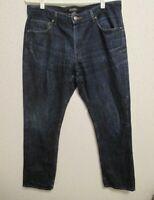 Mens MICHAEL CORS Straight Leg Classic Style Jeans Dark Blue Wash Size 34x30