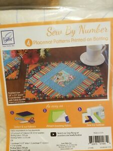 JUNE TAILOR SEW BY NUMBER FABRIC PLACE MATS SET OF 4 SEWING QUILTING JT-1485