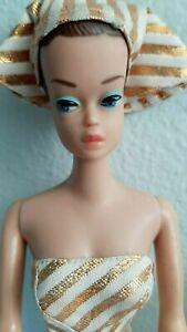 Vintage Fashion Queen Barbie W/ Original Swimsuit Turban  & Wigs