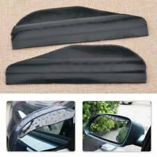 New 2pcs Auto Black Rearview Side Mirror Cover Water Rain Sun Guard Visor Shield