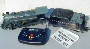 New Bright G Scale Pennsylvania RR Electric Train Set Engine,Tender,Remote Works