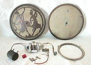 """Stewart Warner Brass Dancing Ladies 11"""" Radio Speaker Parts Or Repair"""