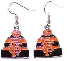 Aminco MLB Licensed Beanie Knit Hat Dangle Earrings (san Francisco Giants)