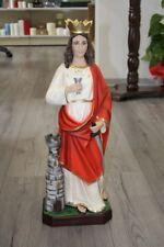 Statua Santa Barbara in resina per esterno cm 60