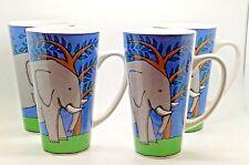 Ursula Dodge Design Elephant Mug Set Of 4 Coffee Tea Mugs Endangered Species