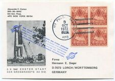 1972 Alexander Katten APO New York Erster Start Grossrakete A4 Hermann Sieger
